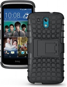 best loved 1113e 9b572 Wellmart Back Cover for HTC Desire 326GBlack, Shock Proof, Rubber, Plastic