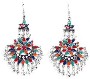 GoldNera Afgani Zehnab Oxidized Antique Traditional Alloy Dangle Earring