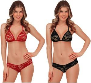Luste Luste polyester bikini 2 pics Combo set Solid Women's Swimsuit