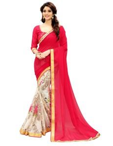 ba9c94534b68d vency creation Printed Bollywood Georgette Saree Pink Best Price in ...