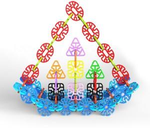 Toys Bhoomi Interlocking Geometry Snowflakes Building Blocks Educational Stem Toys - 230 Pieces