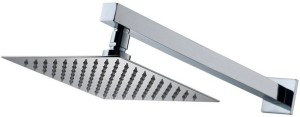 Kurvz 10x10 Ultra Slim Rain Shower Head with 24inch Arm Shower Head