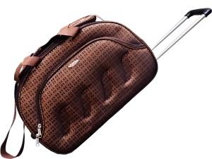 Pride Star Curve 20 inch 50 CM Duffel Strolley Bag Brown Best Price ... 87ae65d38d11b
