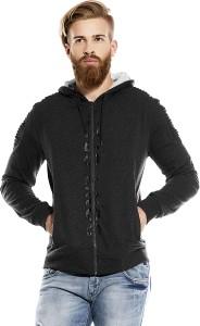 Maniac Full Sleeve Self Design Men's Sweatshirt