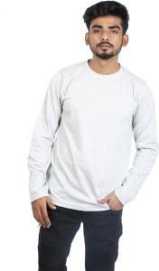 Roden Solid Men's Round Neck Grey T-Shirt