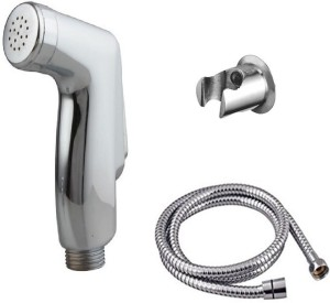 Kurvz jaquar Health faucet (abs)with 1.5mtr flexible SS Tube and Wall Hook Shower Head