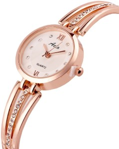 4b2727f75b3 Aelo Rose Gold Metal Chain Bracelet Style Fashion Watch For Girls ...