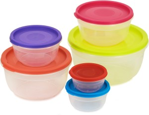 Flipkart SmartBuy Nestable Containers Pack of 6 Multicolor