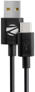 Zebronics ZEB-UCC200 Type-C to USB 2.0 Data / Sync / Extra Long Cable - Black USB C Type Cable
