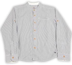 e4894eb56 Allen Solly Junior Boys Striped Casual White Shirt Best Price in ...