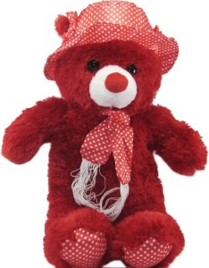 aparnas Cute looking teddybear red stuffed soft plush toy for kids love girl  - 36 inch