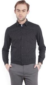 Arrow New York Men's Printed Formal Black Shirt