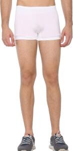 Shaun Solid Men White Compression Shorts