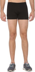 Shaun Solid Men Black Compression Shorts