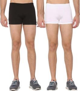 Shaun Solid Men White, Black Compression Shorts