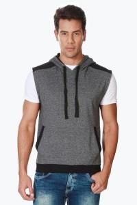 People Sleeveless Solid Men Sweatshirt