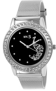 MKS hot peafowl look Black Dial Analog Watch - For Girls Watch  - For Girls