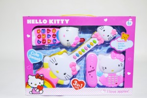 405ca327906c Kids Bazaar Hello Kitty Beautiful Guitar Telephone Toy Mobile Phone Gift  Set For Girls