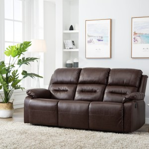 Perfect Homes by Flipkart Wayne 3 Seater Leatherette Recliner