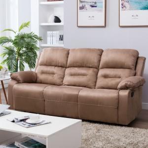 Perfect Homes by Flipkart Wayne Triple Seater Fabric Recliner