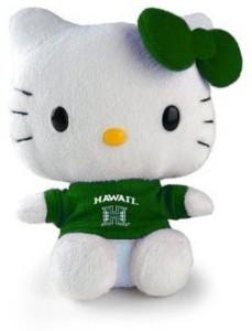 Plushland Hello Kitty Plush Hawaii University  - 3 inch