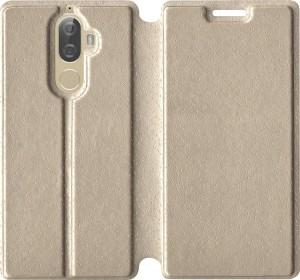 big sale 2a016 7c13b sales express Flip Cover for Lenovo K8 PlusGold, Artificial Leather