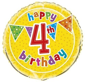 Unique 18 Foil Polka Dot 4Th Birthday Balloon Best Price In India