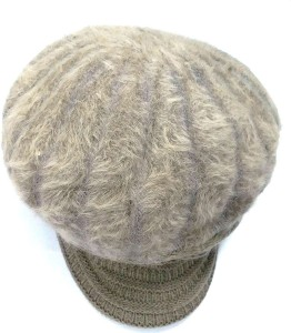 50a541e393c07 ZACHARIAS Solid Fashion Winter Woolen Fur Cap