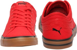 d66df590bf96f2 Puma Yale Gum Solid Sneakers Red Best Price in India