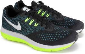b6c639cbc7db Nike AIR ZOOM WINFLO 4 Running Shoes Black Best Price in India ...