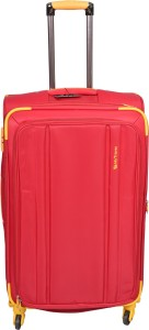PRAGEE EXCLUSIVE RED CHECK IN FABRIC SUITCASE Check-in Luggage - 28 inch
