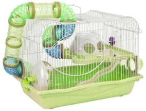 Birds' Park Hamster Cage with Exercise wheel Tunnel & Feeder Hamster House