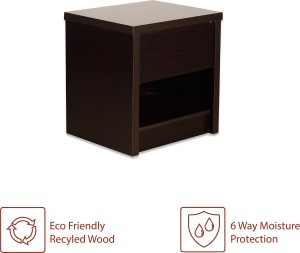 1a0d61642fa Perfect Homes by Flipkart Credo Bedside Table with Drawer Finish Color  Wenge Best Price in India