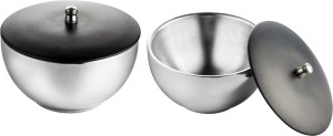 Lavi Double walled Stainless steel bowl set Silver Bowl Set