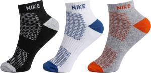 NIKE Men's & Women's Checkered Ankle Length Socks