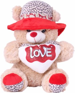 7d874c91bd07 Skylofts 40cm Stuffed Brown Teddy Bear Soft Plush Toy with I Love You Heart  and Hat