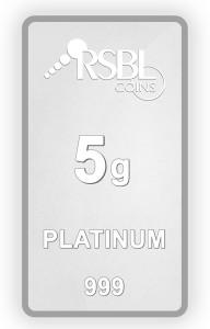 RSBL Precious Certified Dazzling Design 5 g Platinum Bar