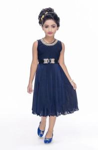 Beekay Girls Midi/Knee Length Party Dress