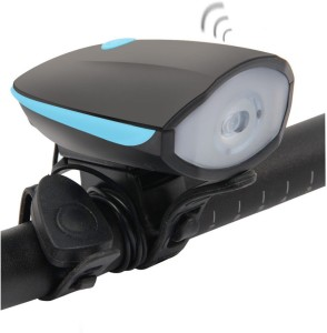 Shadowfax USB Rechargeable Bike Horn And Light Super Bright 3 Modes LED Front Light