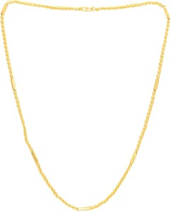 c7d3c5ccd04 Memoir Brass Gold Ball and link, tube design thick stylish Fashion dailyuse Chain  necklace Men