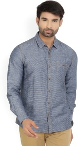 United Colors of Benetton. Men's Striped Casual Blue Shirt