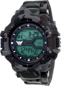 Abrexo Abx1015-Gents Solitary Affrican Army Pattern Chronograph Watch  - For Men