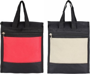 styles creation Combo Red & Grey Lunch/ Tiffin/ Carry Leather Bag Waterproof Lunch Bag