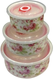 Megalite Ceramic bowl set in pink 3 pis bowl set Ceramic Bowl Set