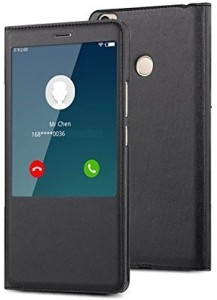 new product b7292 a614e Spectacular Ace Flip Cover for Xiaomi Mi Max 2Black, Artificial Leather