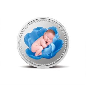 MMTC-PAMP India Pvt Ltd Newborn series- Blue S 9999 10 g Silver Coin