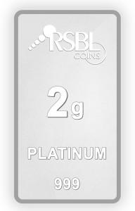 RSBL Precious Certified Elegant Design 2 g Platinum Bar