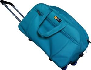 2c68d4db42 N Choice Material Fabric (Expandable) Travel Duffel Bag ( Green )