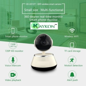 kaykon Wireless CCTV HD Security Camera Remote View 360 Degree Rotation  Capture Record & Voice Command - Indoor Security Camera With SD Card Slot 1
