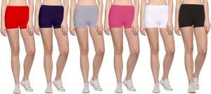69Gal Solid Men & Women Red, Dark Blue, Pink, Grey, White, Black Compression Shorts
